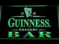 Guinness Draught Beer Bar LED看板 ネオンサイン ライト 電飾 広告用標識 W30cm x H20cm グリーン