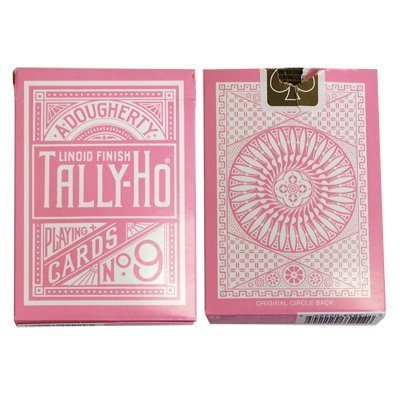 Bicycle cartes à jouer - Tally Ho Reverse Circle Back - (Rose) Pink Playing Cards