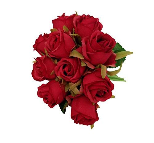 5 Piezas Vintage ramo de flores de rose para Boda Nupcial Partido Hogar Oficina de la Decoración darojo