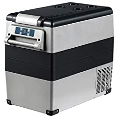 🏆 【Compact Capacity】 This portable car refrigerator has a capacity of 1.7 cu ft and can hold up to 60 bottles of beverage or 18 bottles of red wine. Great for carrying it when you travelling and camping. The handles on both sides allow you to move it...