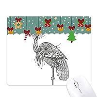 鳥の羽の勇敢な美しさ ゲーム用スライドゴムのマウスパッドクリスマス