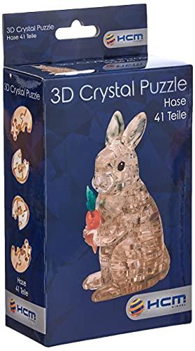 HCM Kinzel Crystal Puzzle 59178 3D Hase 41 Teile