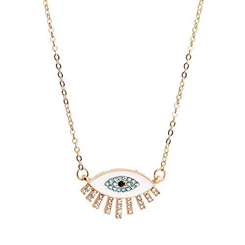 Revilium Collar Colgante Evil Eye Mujeres Accesorios Mujer Harajuku Cristal Boho Joyería Gótica De Lujo Cadena De Oro Collar 55 + 5Cm