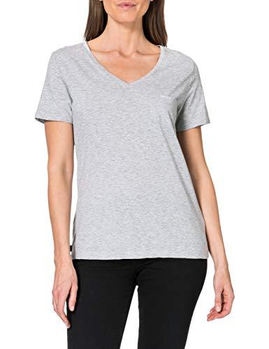 Superdry Damen Pocket V Neck Tee T-Shirt, Mid Marl, M