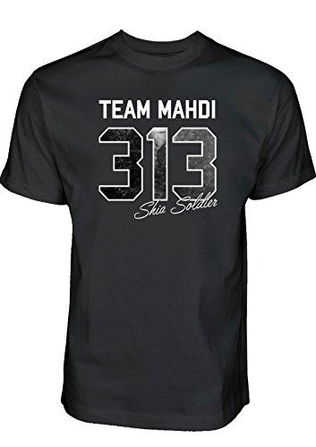 Ashura Tshirt Team Mahdi 313 Shia Soldier T-Shirt Muharram Shirt Schia-Shop Schiitische Shia Islam Kleidung (L)