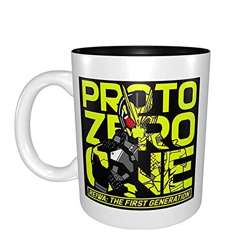 Hdadwy Anime Rider Black Proto Zero One Ceramic Coffee Cup Classic Color Mug (Double-Sided) Printing Design Black