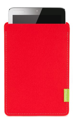 WildTech Sleeve für Lenovo A7-50 Tablet (A3500) Hülle Tasche - 17 Farben (Made in Germany) - Hellrot