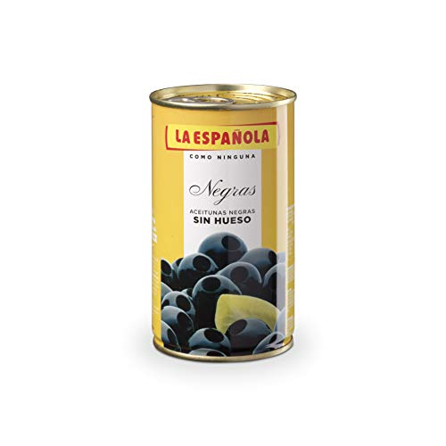 La Española Aceituna Negra Sin Hueso 350 g