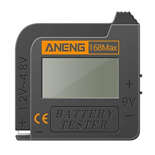 KKmoon Batterietester Batteriemessgerät Akkutester Digital Display Batterieprüfer Batteriekapazitätstest-Tool Universalprüfgerät für AAA AA 1.5V, 9V Knopfbatterie und Andere Batterie Typen
