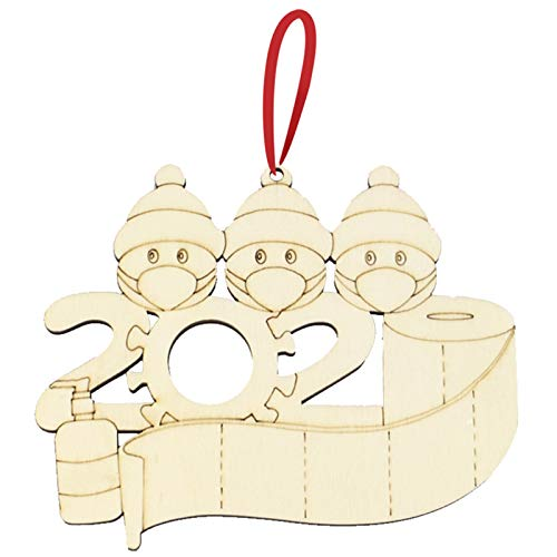 Irfora Weihnachtsschmuck, Weihnachtsschmuck für die Familie Schreiben Sie Worte der Begierde Hängeset für die Weihnachtsdekoration personalisiert für die Familie Kreatives Geschenk für die Familie
