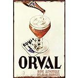 None Brand Orval Biere Peinture sur Fer Rétro Métal décoration Murale Signe en étain Vintage Plaque Stickers Muraux Cadeau Cour Bar Café Pub Club Bar Cadeau