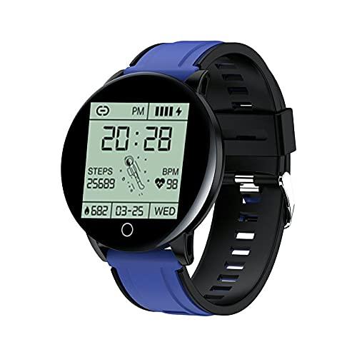 abbybubble Reloj Inteligente 119S, rastreador de Ejercicios, Pulsera Inteligente, monitorización del Ritmo cardíaco, Reloj Inteligente Impermeable para Mujeres y Hombres para teléfono iOS