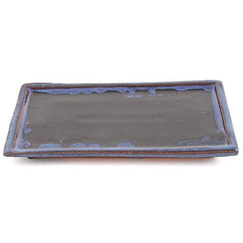 Bonsai 53354 Dessous de Verre carré Bleu 23,5 x 14 cm