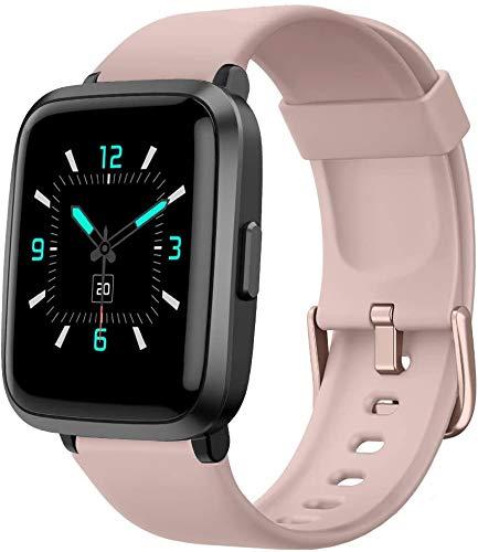 YAMAY Smartwatch con Oxímetro de Pulso Esfigmomanómetro y Pulsómetro Reloj Inteligente Impermeable para Hombre Mujer, Pulsera de Actividad Inteligente podómetro con Cronómetro para Android iOS