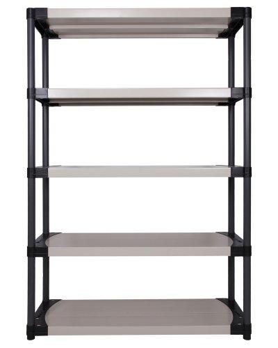 Ondis24 Kunststoffregal, Schwerlastregal, 120 x 40 x 175 (H) cm, Steckregal Worker, 4 Böden, bis 240 kg belastbar