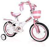 Bicicletas Bicicletas para niños, Bicicleta para niños Niña 2-12 años Scooter de los pies de los niños Coche de balance de niños 12-18 pulgadas Bicicleta al aire libre Bicicleta (color: rosa, tamaño: