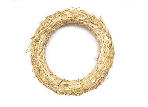 Ghirlanda Corona di paglia 3 pz corone decorazione fai da te lavoretti (30 cm / 5 cm)