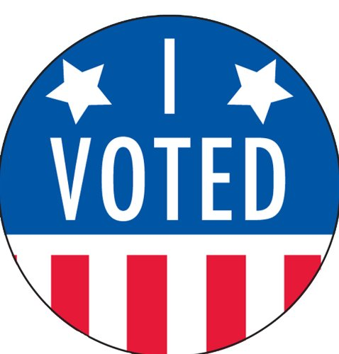 """I Voted Stickers/Labels - 2"""" in Diameter, 1000 Labels per roll"""