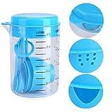 TOSSPER 7pcs / Set Tazas de medir y cucharas de plástico Medida té café Utensilios de Cocina para Hornear Herramientas para Hornear de Cocina