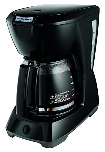 Hamilton Beach Commercial HDC1200 12 Cup Coffeemaker Black with Glass Carafe | Hospitality Rated, 10.4 x 7.1 x 12.1