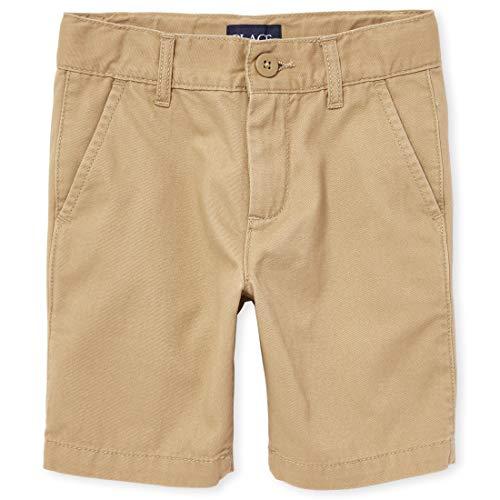 The Children's Place Boys' Uniform Chino Shorts, Flax, 10