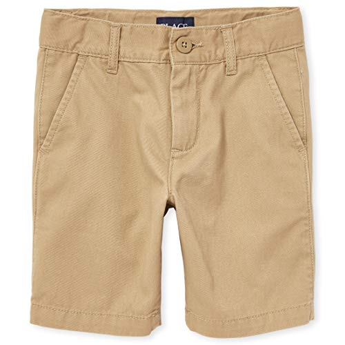 The Children's Place Boys' Big Uniform Chino Shorts, Flax, 8