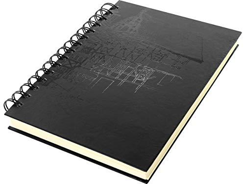 Schetsboek Kangaro A5 blanco, Wire-o, hardcover, zwart met opdruk, 140 g crème papier