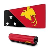 パプアニューギニアの旗 マウスパッド ノンスリップ 防水 高級感 習慣 パターン印刷 ゲーミング ホビー 事務 おしゃれ 学習 30X80CM