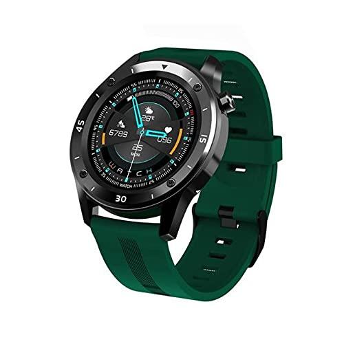JIUTAI Salud y Fitness SmartWatch Impermeable de tensión Inteligentes Reloj táctil Completa del Ritmo cardíaco Sangre Detección Pulsera Verde