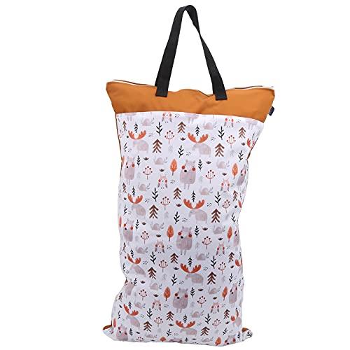 Pañal de tela Bolsas secas húmedas, bolsa de almacenamiento de pañales Patrón de dibujos animados lindo Bolsa de pañales húmeda y seca Bolsa húmeda y seca para nadar al aire libre para