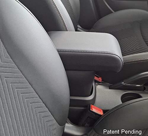 Drive Design Bracciolo Premium per 500L RESTYLING da Maggio 2017 in avanti in Ecopelle Nero Regolabile in Lunghezza bracciolo Compatibile 500L