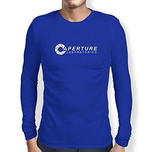 Nexxus Aperture Laboratories - Herren Langarm T-Shirt, Größe XL, Marine