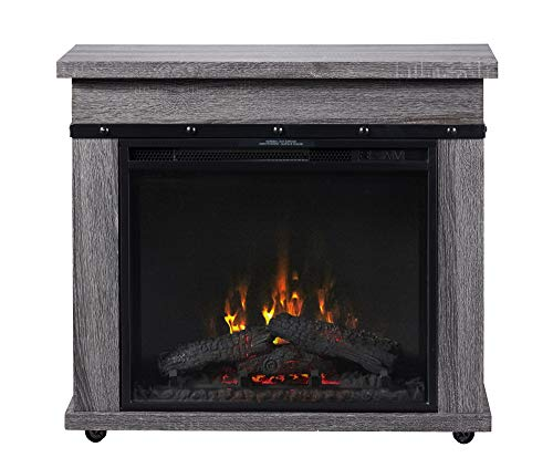 Dimplex C3P23LJ-2085CO Electric Fireplace Mantel, Charcoal Oak