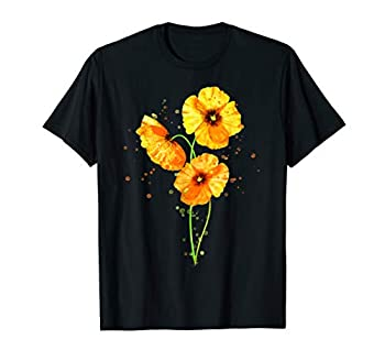 California Poppies Watercolor Flowers Wildflowers Orange T-Shirt