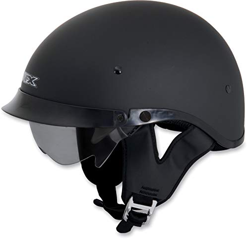 AFX FX-200 Dual Inner Lens Half-Style Beanie Helmet, Flat Black 0103-0738, Size: 2XL