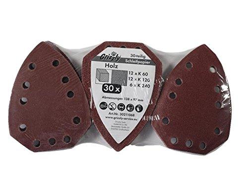 30 tlg Schleifpapier Set HOLZ passt für PARKSIDE LIDL Handschleifer Modelle siehe Artikelbeschreibung