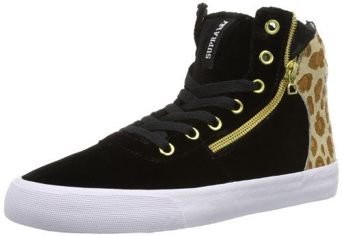Supra Damen Womens Cuttler High-top, Schwarz (Black/Cheetah - White BCT), 37.5 EU