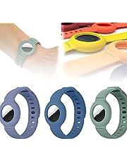 Voor Apple Airtag siliconen band armband beschermhoes, super lichte zachte huidvriendelijke tracker horlogeband, verstelbare GPS tracking locator anti-verloren polsband (E)