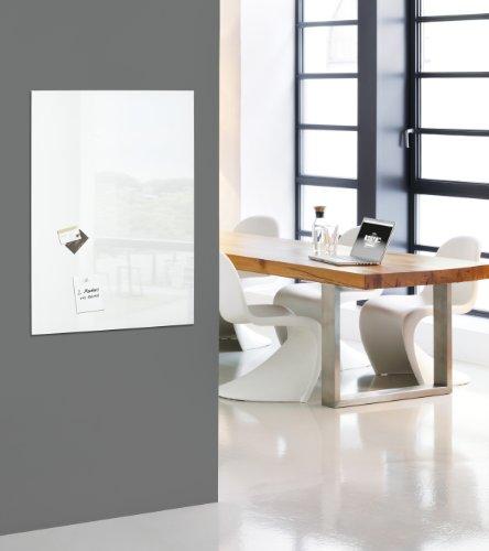 SIGEL GL141 Premium Glas-Whiteboard 100x65 cm super-weiß / Glas Magnettafel / Sicherheitsglas / TÜV geprüft / Magnetboard Artverum - weitere Farben/Größen - 3