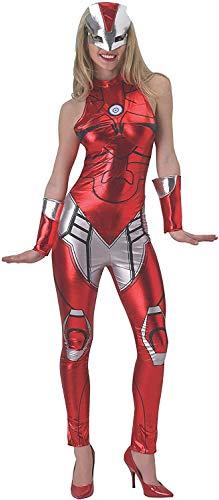 Qfeng Marvel Geheime wensen vrouwen Universe Iron Man Geheime wensen Rescue Kostuum Kattenpak en Masker, Multi kleuren, Klein