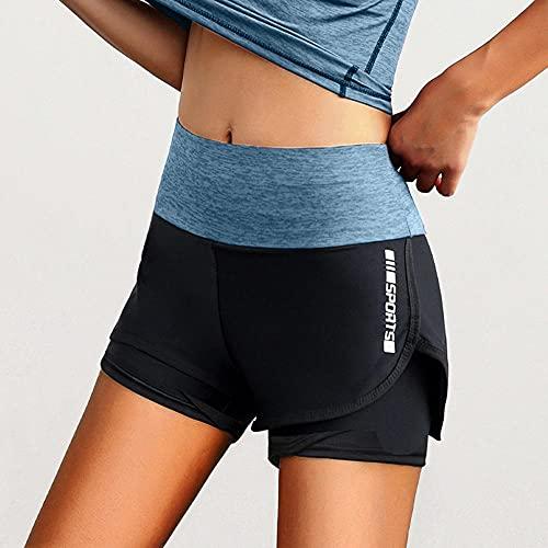 BUXIANGGAN Pantaloncini Short Donna Leggings De Fitness pour Femmes Shorts De Sport D Été À Séchage Rapide Moulants De Poche pour Entraînement Course À Pied Cyclisme Yoga-Bu_M