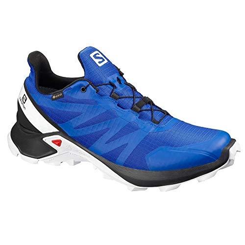 SALOMON Herren Shoes Supercross GTX Laufschuhe, Mehrfarbig (Lapis Blau/Schwarz/Weiß), 41 1/3 EU