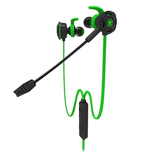 Plextone G30 Stéréo Gaming Écouteurs avec Micro PS4 Dans L'oreille Gaming Écouteurs Casque avec Microphone Détachable Contrôle Du Volume En Ligne pour Téléphone PC Nouvelle Xbox One PlayStation 4,Vert