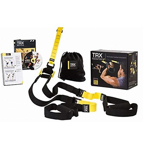 Übungs-Bänder Suspension Resistance Band Trainingsgürtel Workout-Widerstand-Bänder for Frauen Männer für Dehnübungen (Color : Black, Size : One Size)