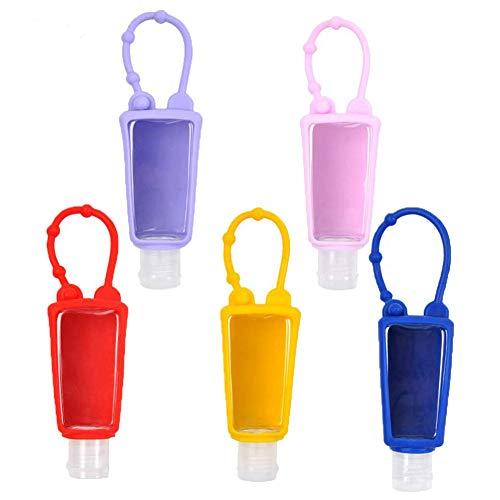 Botellas de Viaje de Plástico Contenedor de Líquidos con Tapas Abatibles, para Desinfectante de Manos Contenedor Desinfectante de Manos a Prueba de Fugas Rellenable(10 Piezas 30 ml)