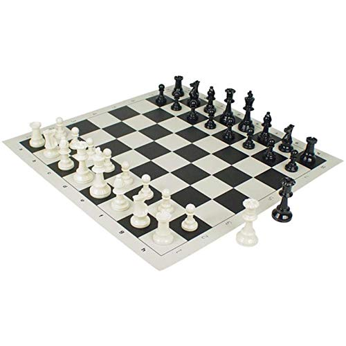 Reise Schachspiel, PU Leder Schachbrett mit Schachfiguren und Aufbewahrungstasche, Schachspiel Klappar Schachbrett Sets für Anfänger Kinder Erwachsene-51cmx51cm (zufällige Farbe)