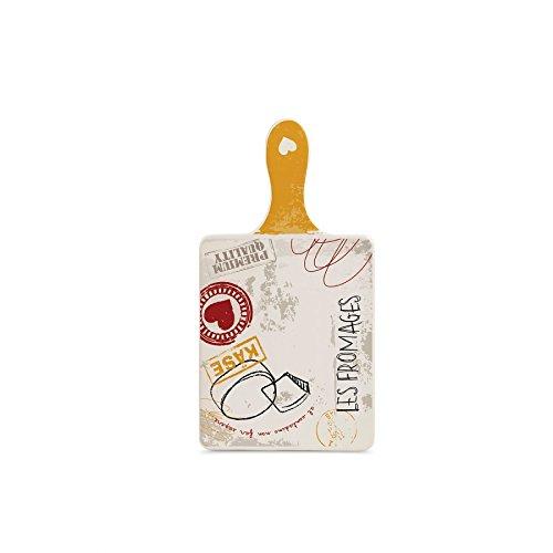 Egan Tagliere Ceramica Linea Sale e Pepe Giallo cm 14x26