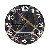掛け時計 壁掛け時計 光線 かけ時計 おしゃれ 耐久性 静音 音無し シンプル デザイン 連続秒針 電池式 直径25cm 寝室 部屋装飾 オフィス 丸形 時計