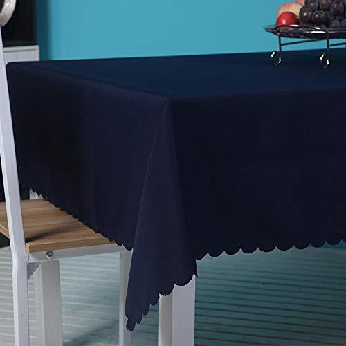 YuHengJin Mantel Pequeño Estilo Fresco No Es Fácil de Desvanecer Duradero Manteles Antimanchas Adecuado Azul Marino 160×200cm