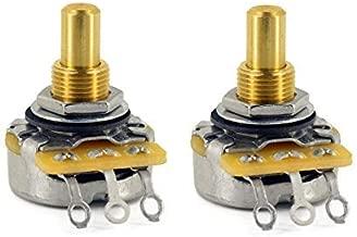 CTS 500K Pot Short (3/8 inch) Solid Shaft Audio Taper - 10% Tolerance - Pair (2X)